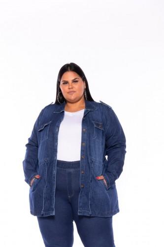 Parka Jeans Feminina Bruna