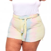 Shorts Tie Dye Plus Size