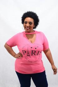 Blusa Chocker Plus Size Viscolycra Paris