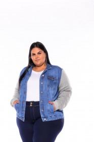 Jaqueta Jeans & Moletom Forrada