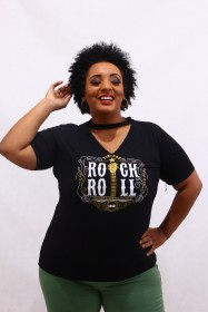 Blusa Chocker  Viscolycra Rock 'n Roll
